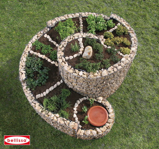La spirale aromatique en gabion le potager du jardin for Decoration jardin spirale